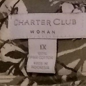 Charter Club Tops - 🎁Ladies Blouse Leaf Print🎁
